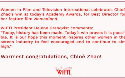 WIFT International congratulates Chloé Zhao!