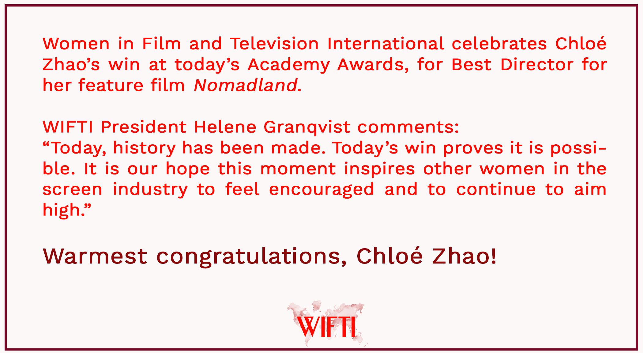 wifti academy awards chloe zhao